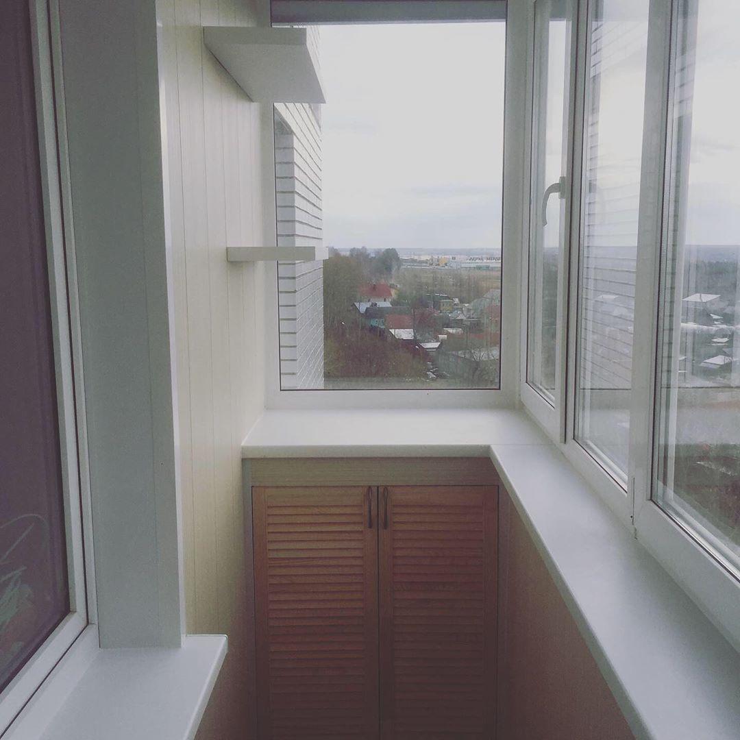 Внутренняя отделка балкона 3